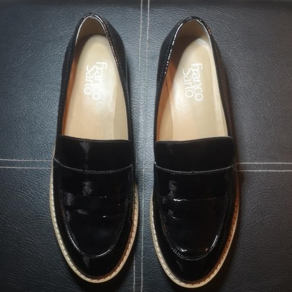 Franco Sarto New Black Patent Loafers Size 8M